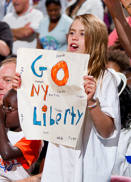 Liberty fans hope to see their team back at Madison Square Garden on Thursday