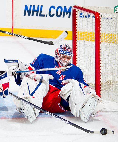 Rangers goalie Martin Biron, who will backup Henrik Lundqvist this season