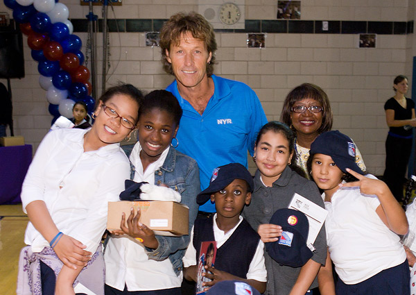 Ron Duguay with his new fans