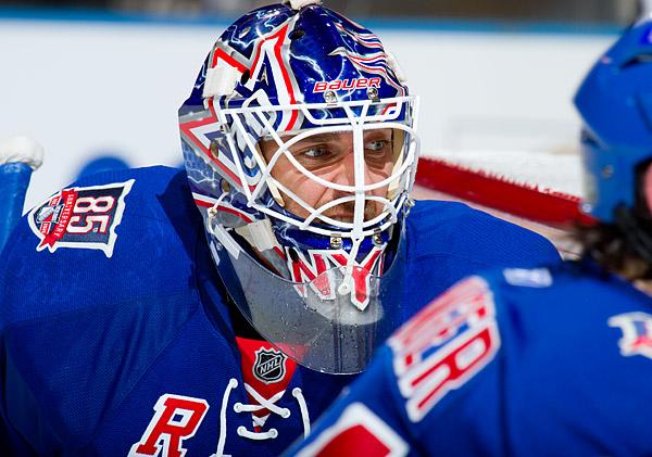 Rangers goalie Henrik Lundqvist