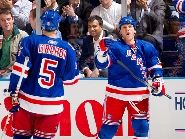 Sean Avery immediately responds, scoring his first goal of the season