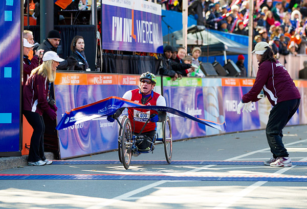 American Dane Pilon then won the handcycle race