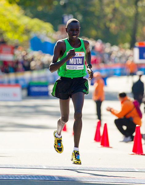 Kenyan Emmanuel Mutai finished second