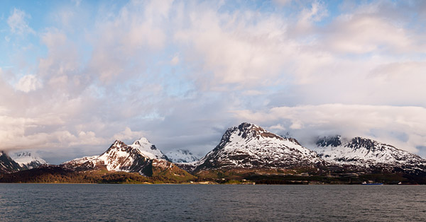 Prince William Sound and the Chugach Mountains, as seen from Valdez