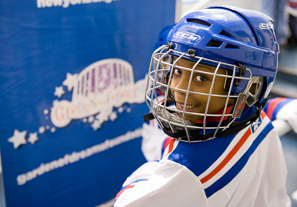 best service 3d3f6 41418 Garden of Dreams Foundation's New York Rangers skating and ...