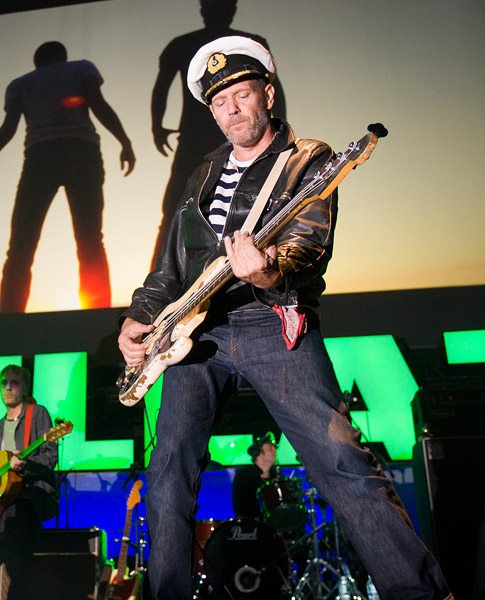 The legendary Paul Simonon of The Clash plays with the Gorillaz on stage