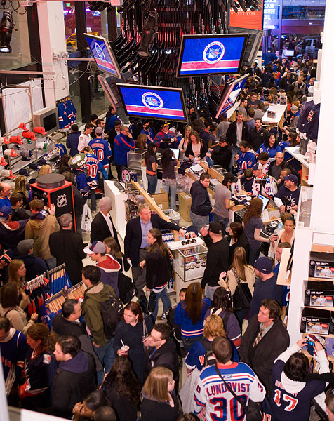 The packed NHL Store