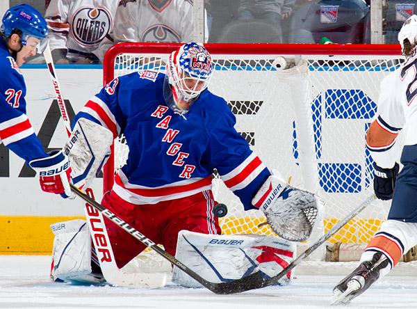 Rangers backup goalie Martin Biron was dependable as usual in net, playing for the second straight game