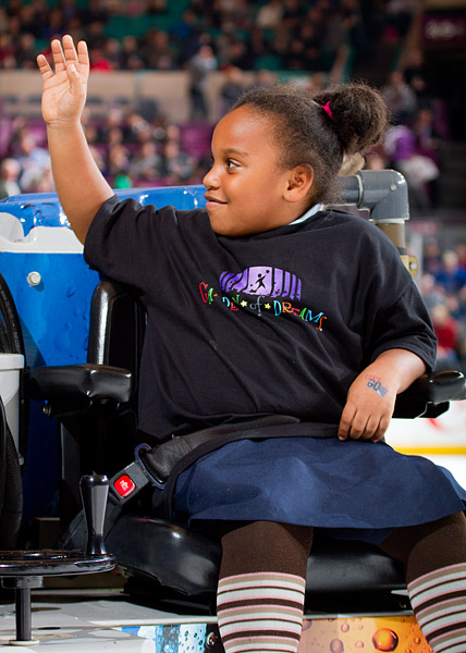 Riding the Zamboni in between periods