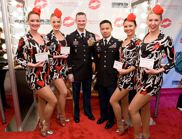 Rockettes Kiss for the Troops