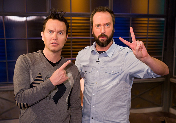 Mark Hoppus and Tom Green