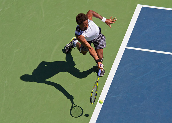 Gael Monfils of France playing in the U.S. Open.