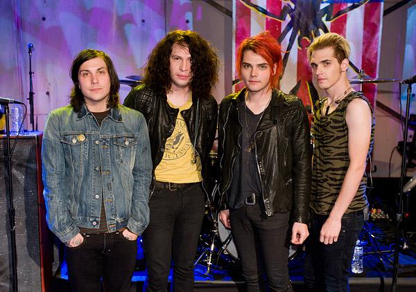 My Chemical Romance's Frank Iero, Mikey Way, Gerard Way, and Ray Toro