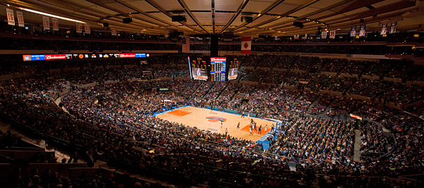 Knicks basketball at Madison Square Garden