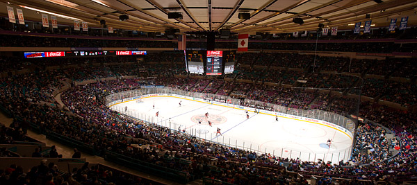 Rangers hockey at Madison Square Garden