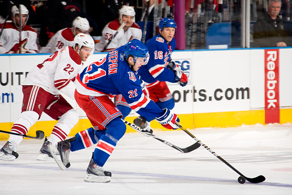 The Rangers' Derek Stepan, who scored the game-tying goal