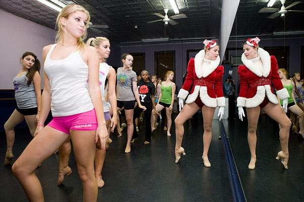 Rockettes at a dance studio