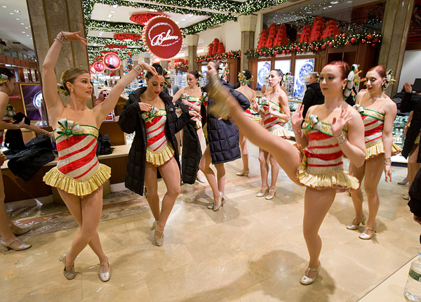 Radio City Rockettes in Macy's store