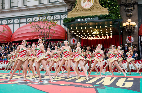 Rockettes at Thanksgiving Day Parade