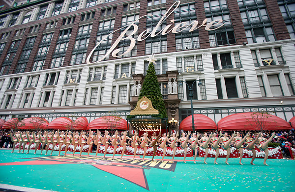 Rockettes at the Macy's Thanksgiving Day Parade