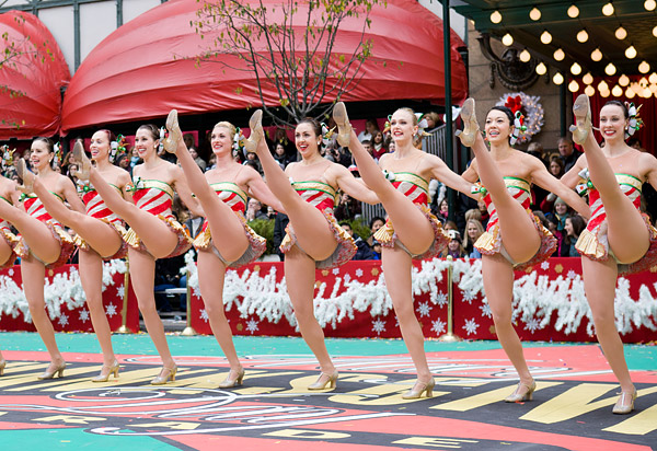 Radio City Rockettes perform at 2010 Thanksgiving Parade