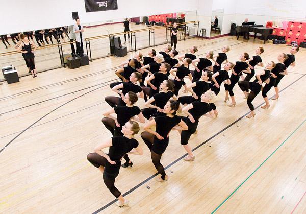 Rockettes rehearsing