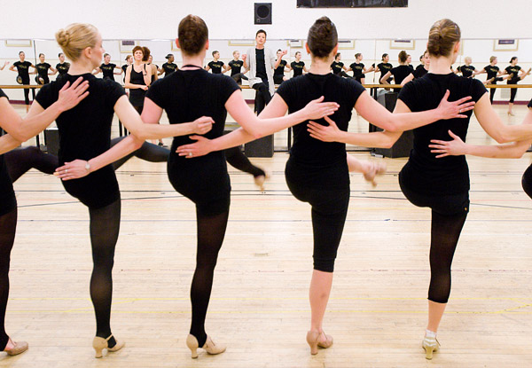 Radio City Rockettes rehearse
