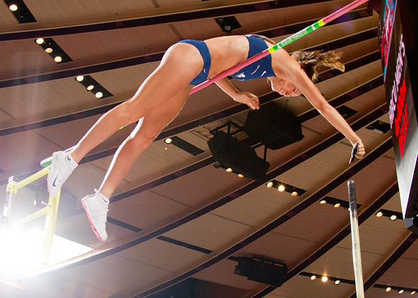 Fabiana Murer of Brazil, winner of the women's pole vault