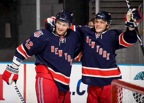And fourth, seen here with Artem Anisimov, who assisted on all four goals