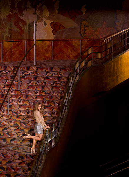 Jennifer Lopez on the Grand Staircase at Radio City Music Hall