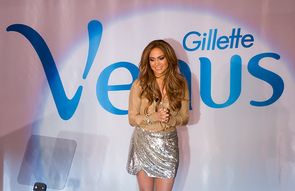 Jennifer Lopez Gillette Venus press conference