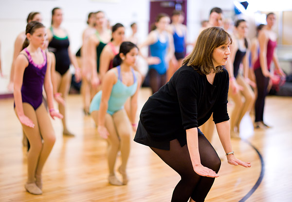 Summer Intensive program director Eileen Grace leads dancers through choreography
