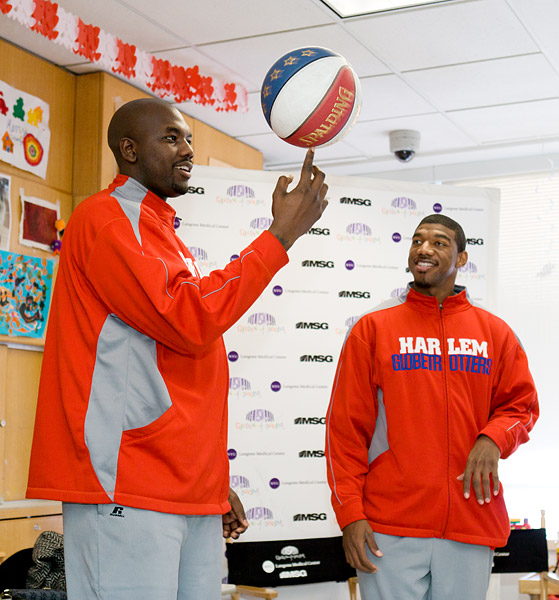 Harlem Globetrotters and Garden of Dreams at NYU Tisch Hospital