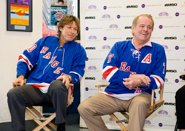 Ron Duguay and Rod Gilbert