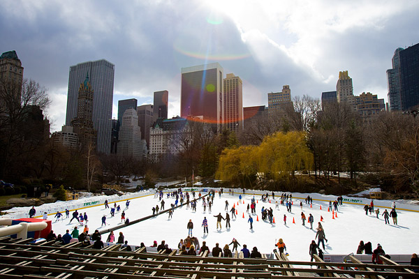 Skating in Wollman Rink in Central Park