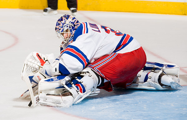 Lundqvist makes a save late in the game, preserving his 9th shutout of the season. With one more shutout over the final 14 game stretch, Lundqvist would match the career best 10 shutouts he earned in the 2007-08 season.