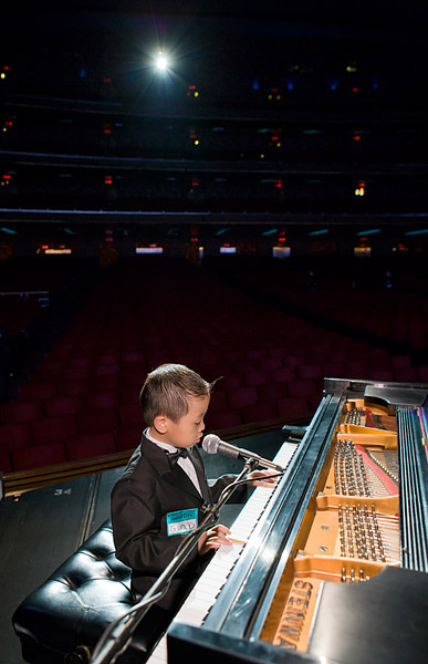Alexander rehearses on stage before doors open