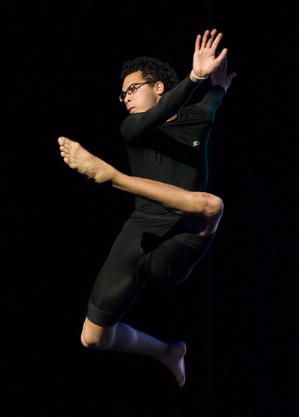Juan performs a modern dance number