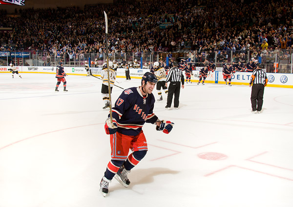 Dubinsky shows his emotion after the dramatic win