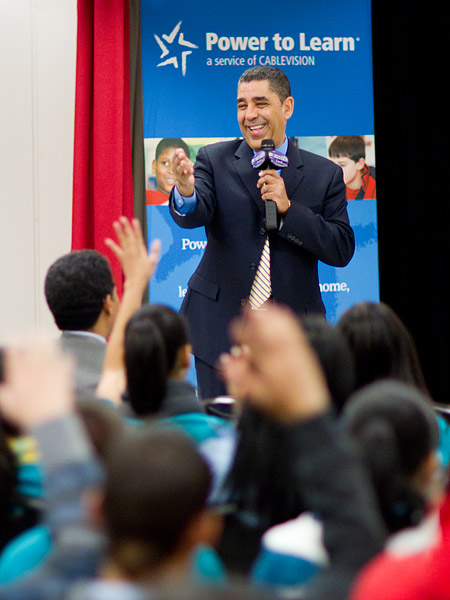 New York State Senator Adriano Espaillat at Gregorio Luperon High School