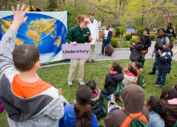 Central Park Zoo's Wildlife Theater teaches kids about rain forest layers