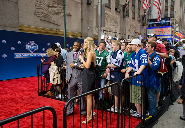 The red carpet at the 2011 NFL Draft