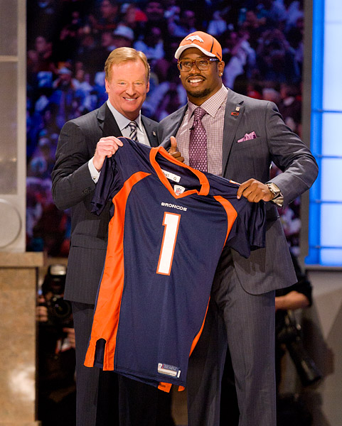 Roger Goodell with #2 pick Von Miller
