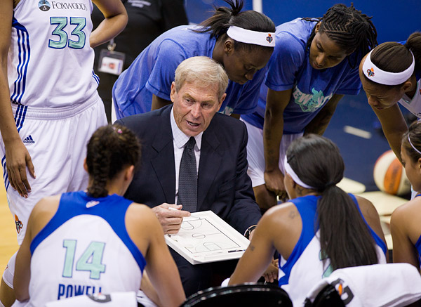 First year Liberty head coach John Whisenant, who coached the Sacramento Monarchs from 2003-2006 and 2009, including a championship in 2005