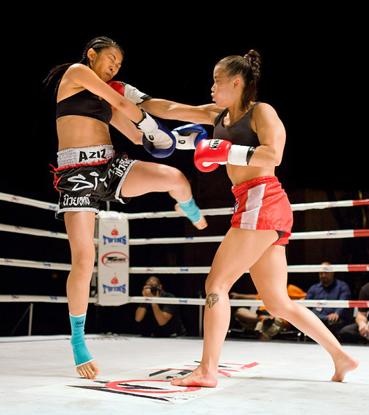 My favorite fight of the night, Jessica Ng vs. Ani Hilditch