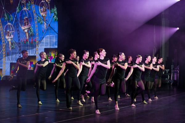Radio City Rockettes rehearsal
