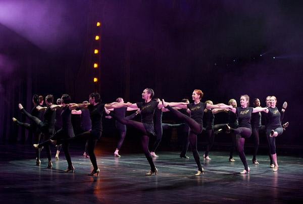 Rockettes rehearse at Radio City Music Hall