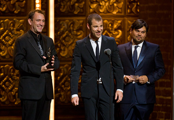 Book of Mormon creators Trey Parker, Matt Stone and Robert Lopez were the big winners at this year's Tonys. Their hit musical won 9 out of the 14 Tonys for which it was nominated.