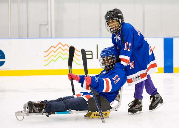 Giving sled hockey a try