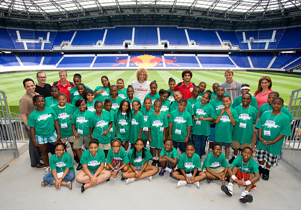 A trip to Red Bull Arena in Harrison, New Jersey to meet Red Bull soccer players Mehdi Ballouchy, Alex Horwath, Stephen Keel, Jan Gunnar Solli and MSG Network TV broadcasters